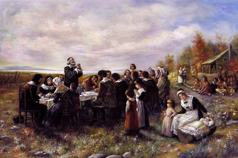 First Thanksgiving by Brownscombe